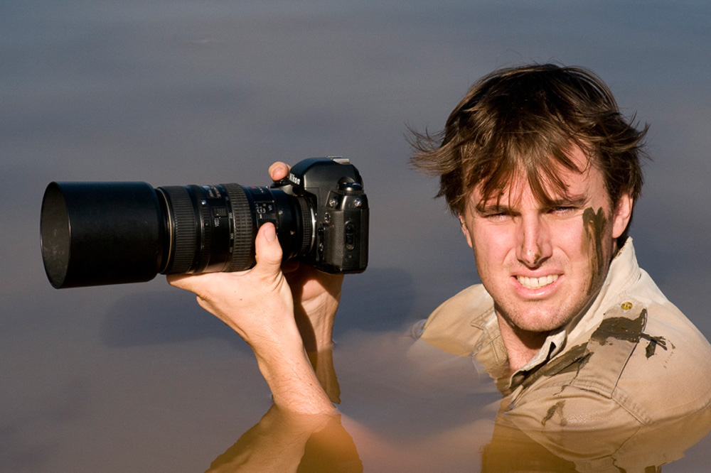 Greg du Toit photographing the free-ranging lions of the South Rift valley in Kenya.